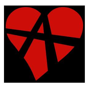 En symbol för relationsanarki. Designad av Leo Nordwall.